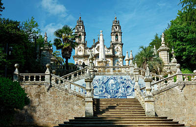 Photograph - Baroque Staircase To Monte De Santo Estavao by Sally Weigand