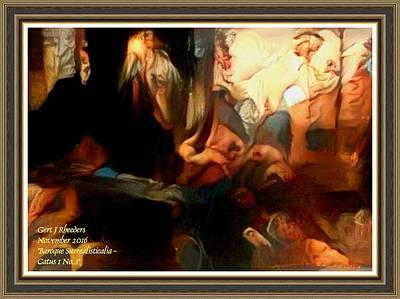 Studio Grafika Zodiac - Baroque Surrealisticalia Catus 1 No. 1 With Alt. Decorative Ornate Printed Frame. by Gert J Rheeders