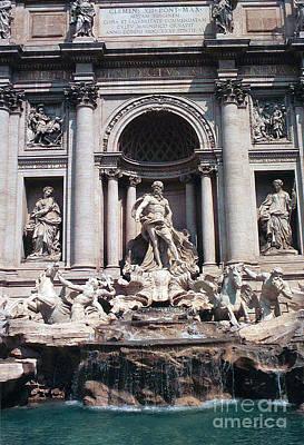 Photograph - Baroque Trevi Fountain Rome Italy Fontana Di Trevi by Greta Corens
