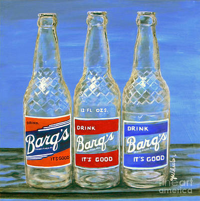 Painting - Barq's Trifecta by JoAnn Wheeler