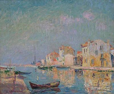 Barques Dans Le Port De Martigues Art Print by MotionAge Designs