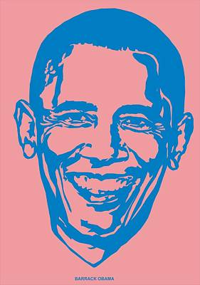 Barrack Obama Silhouette Art Image Art Print
