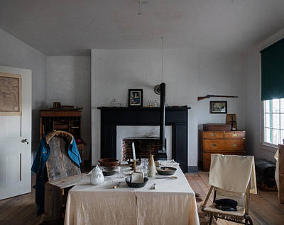 Photograph - Barracks Interior At Fort Laramie National Historic Site In Goshen County by Carol M Highsmith