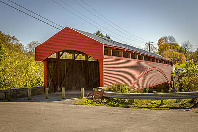 Photograph - Barrackville Covered Bridge by Jack R Perry