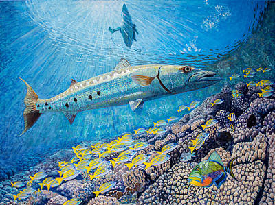 Painting - Barracuda by Manuel Lopez