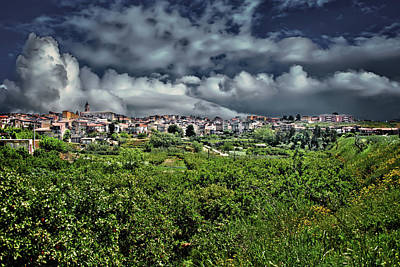 Photograph - Barrafranca Skyline  by Patrick Boening