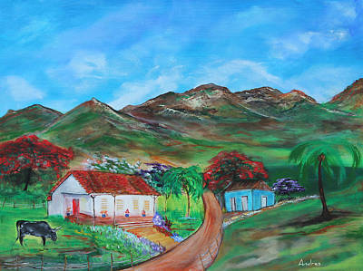 Painting - Barranquitas by Andres Gonzalez