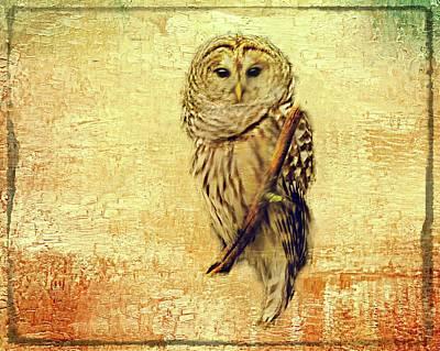 Digital Art - Barred Owl by Rusty R Smith