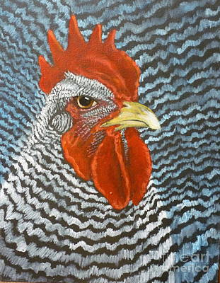 Barred Rock Rooster Original by Sherrill Hull