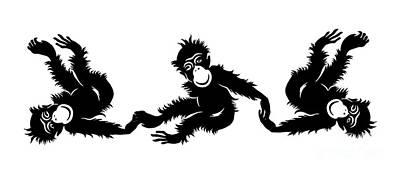 Monkeys Drawing - Barrel Of Monkeys Mug by Edward Fielding