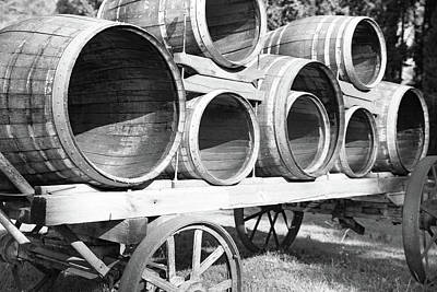 Barrel Of Wine Original by Shay Weiss