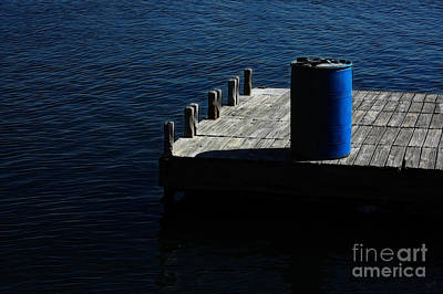 Barrel On An Empty Dock Art Print by Nishanth Gopinathan