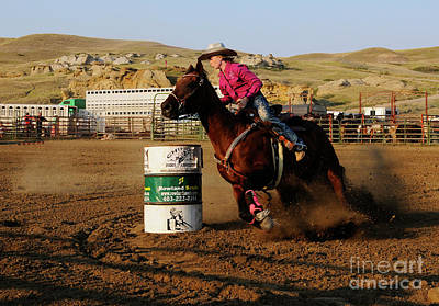 Photograph - Barrel Racer 4 by Vivian Christopher