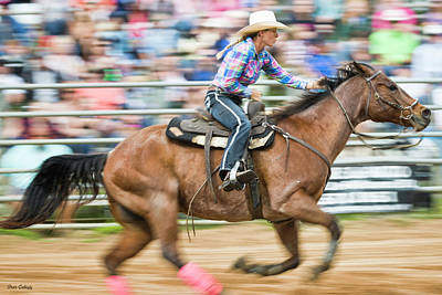 Photograph - Barrel Racer by Fran Gallogly