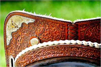 Photograph - Barrel Racing Saddle Detail by Jerry Sodorff