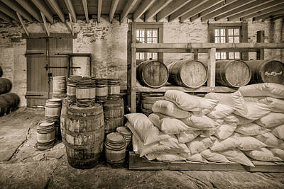 Photograph - Barrels And Sacks by James Barber