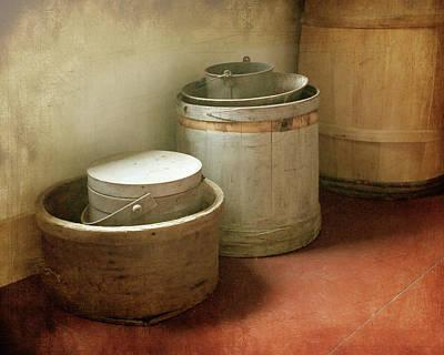 Photograph - Barrels Boxes And Buckets by Nikolyn McDonald