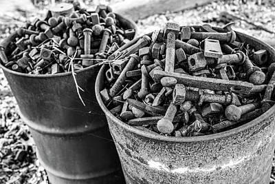 Photograph - Barrels Of Bolts by Karol Livote