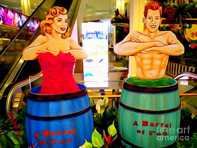 Digital Art - Barrels Of Fun by Ed Weidman