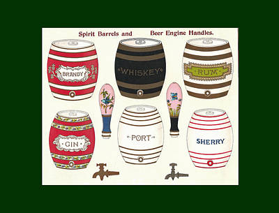 Mixed Media - Barrels Two by Eric Kempson