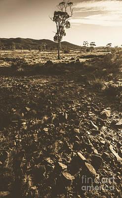 Hot Boulders Photograph - Barren And Hostile Australian Summer Landscape by Jorgo Photography - Wall Art Gallery