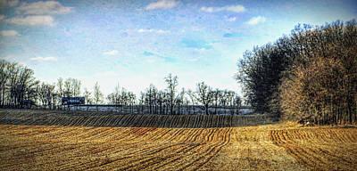 Barren Fields In Champaign County Art Print by William Sturgell