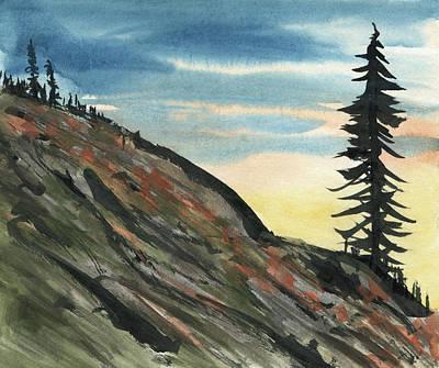 Mixed Media - Barren Hillside by R Kyllo