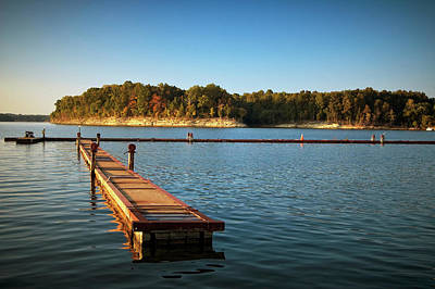 Photograph - Barren River Lake Dock by Amber Flowers