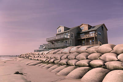 Sand Bags Photograph - Barrier Island Migration  by Betsy Knapp