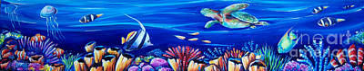 Barrier Reef Art Print by Deb Broughton