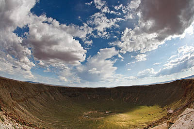 Photograph - Barringer Meteor Crater #4 by Robert J Caputo