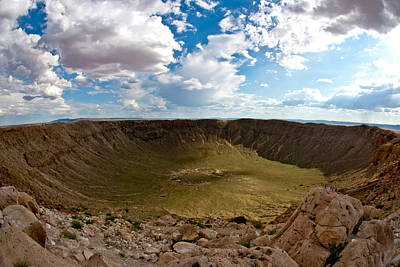 Photograph - Barringer Meteor Crater #5 by Robert J Caputo