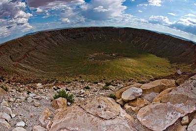 Photograph - Barringer Meteor Crater #6 by Robert J Caputo