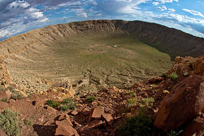Photograph - Barringer Meteor Crater #8 by Robert J Caputo