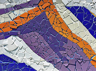 Photograph - Barrio Bellavista Mosaic Detail No. 169-1 by Sandy Taylor