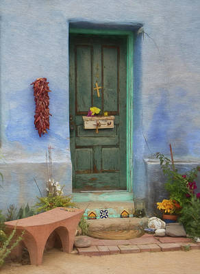 Photograph - Barrio Door Painted by Teresa Wilson