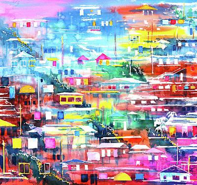Painting - Barrio El Cerro De Yauco by Zaira Dzhaubaeva