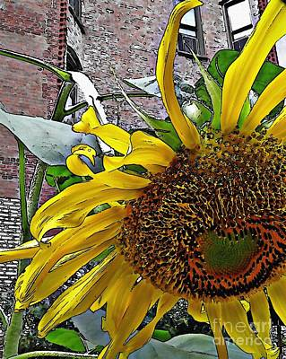 Barrio Sunflower 3 Art Print