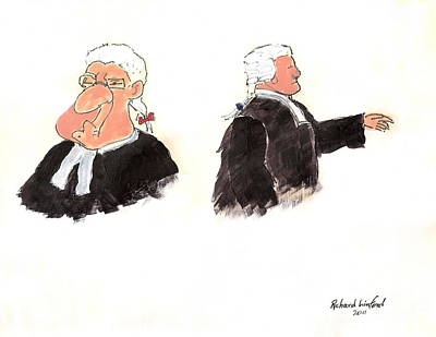 Barrister Painting - Barristers 1 by Richard W Linford