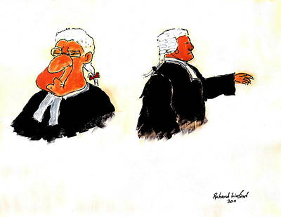 Barrister Painting - Barristers 2 by Richard W Linford