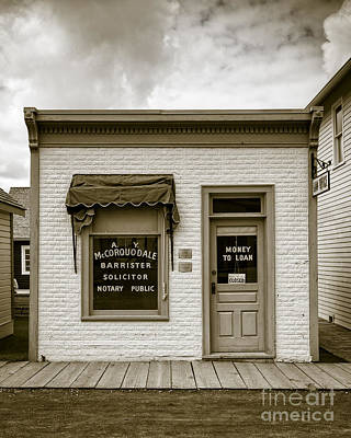 Photograph - Barrister's Office In The Wild West by Edward Fielding