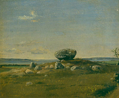 Painting - Barrow On The Island Of Brandso by Dankvart Dreyer