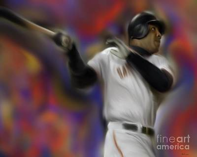 Barry Bonds Painting - Barry Bonds by Jack Bunds