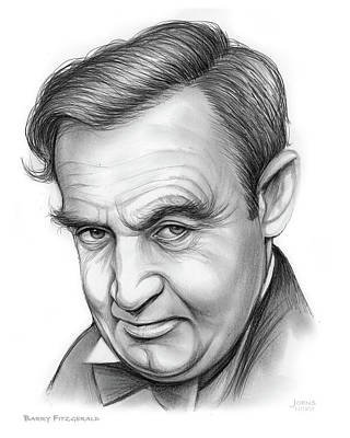 Drawing - Barry Fitzgerald by Greg Joens