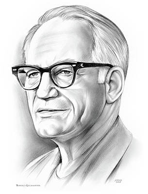 Drawings - Barry Goldwater by Greg Joens
