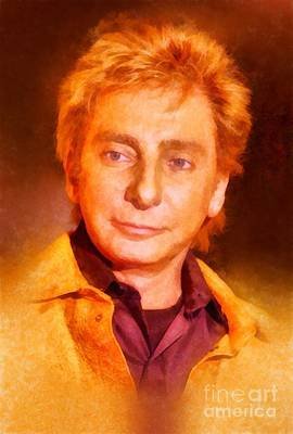 Music Paintings - Barry Manilow by John Springfield by Esoterica Art Agency