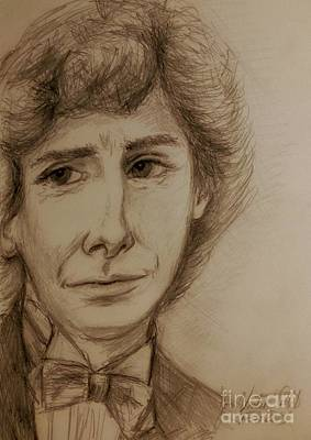 Drawing - Barry Manilow In Sepia 2 by Joan-Violet Stretch
