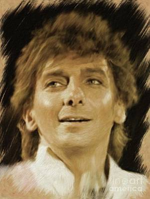 Musician Royalty-Free and Rights-Managed Images - Barry Manilow, Music Legend by Mary Bassett