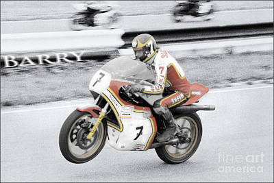 Anchor Down - Barry Sheene 2, the hand tinted version by Jon Delorme