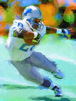 Detroit Lions Painting - Barry The Greatest by John Farr